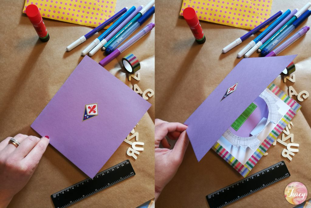 DIY Stadium Pop Up Card