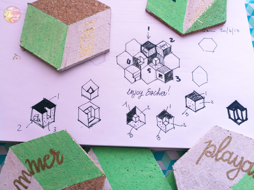 Ideas to create your DIY drink coaster from Escher