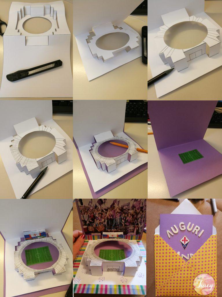 DIY Stadium Pop Up Card